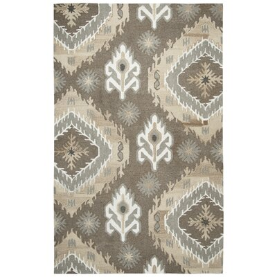 Allerton Hand-Tufted Brown Area Rug Rug Size: 3 x 5