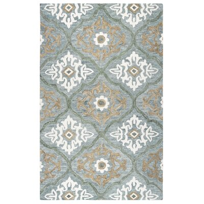 Arden Hand-Tufted Blue Area Rug Size: 5 x 8