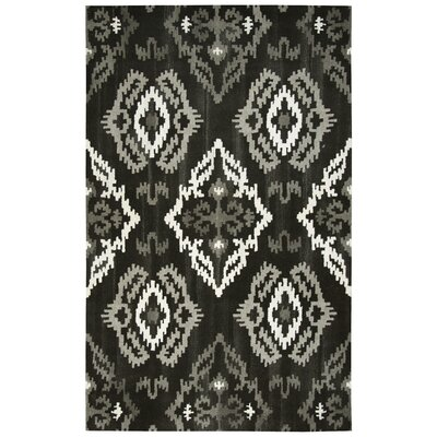 Allerton Hand-Tufted Black Area Rug Rug Size: Runner 26 x 8