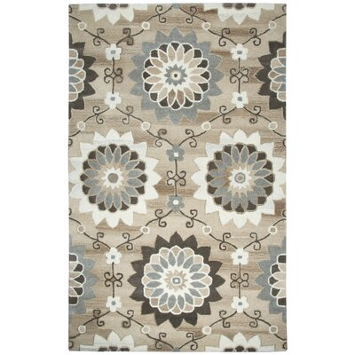 Allerton Hand-Tufted Beige Area Rug Rug Size: Rectangle 5 x 8