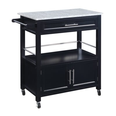 Byard Kitchen Cart with Granite Top