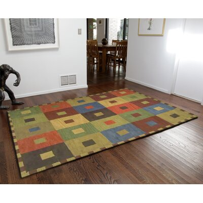 Abbottstown Squares Area Rug Rug Size: 5 x 8