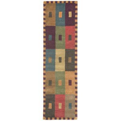 Abbottstown Squares Area Rug Rug Size: Runner 23 x 8