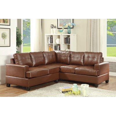 Adamsburg Reversible Chaise Sectional Upholstery: Brown