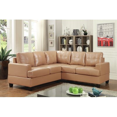 Adamsburg Reversible Chaise Sectional Upholstery: Tan