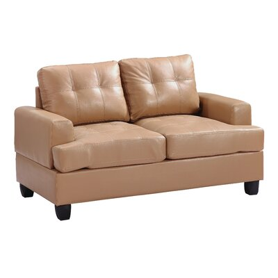 Adamsburg Loveseat Upholstery: Tan