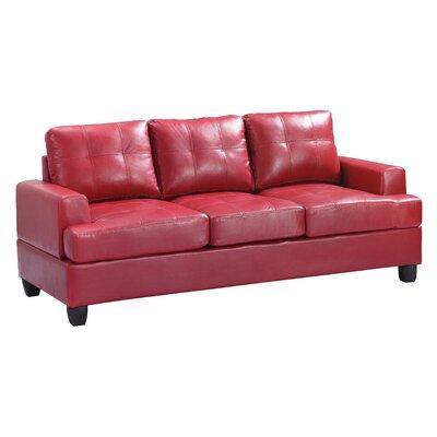 Adamsburg Sofa Upholstery: Red