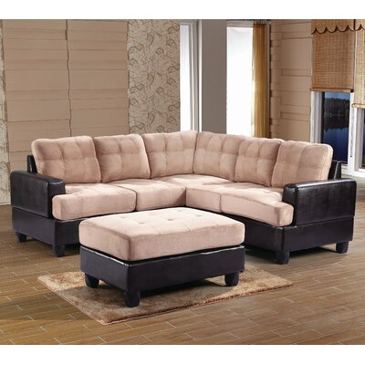 Childress Sectional Upholstery: Mocha Suede