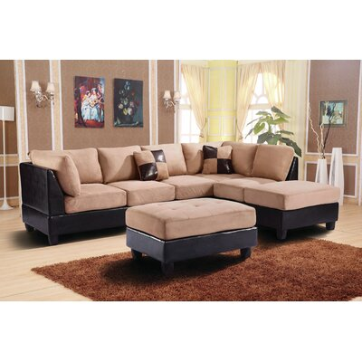 Childress Sectional Upholstery: Mocha