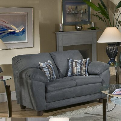 Redhook Loveseat Upholstery: Bulldozer Black