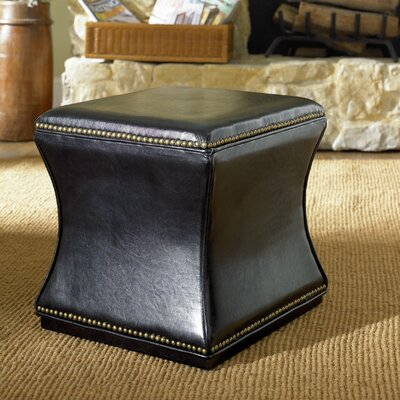 Bohannon Leather Storage Ottoman Color: Black