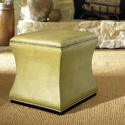 Bohannon Leather Storage Ottoman Color: Green