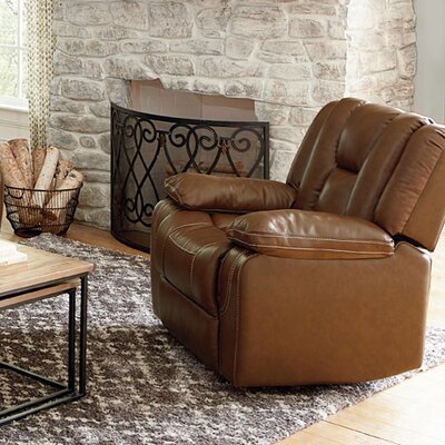 Appleton Manual Glider Leather Handle/Lever Recliner