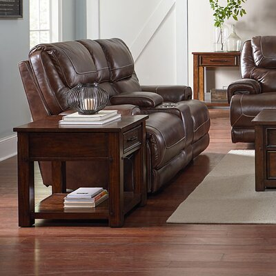 Applewood Console Manual Motion Reclining Loveseat