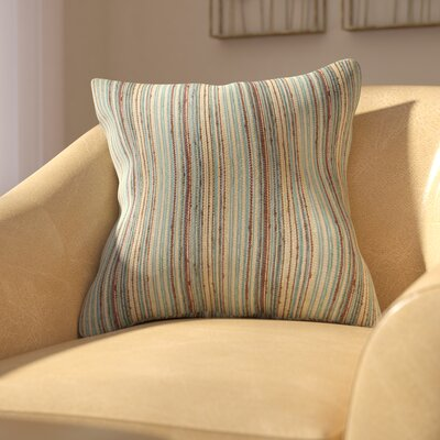 Bourdeau Throw Pillow Color: Blue Brown, Size: 18x18