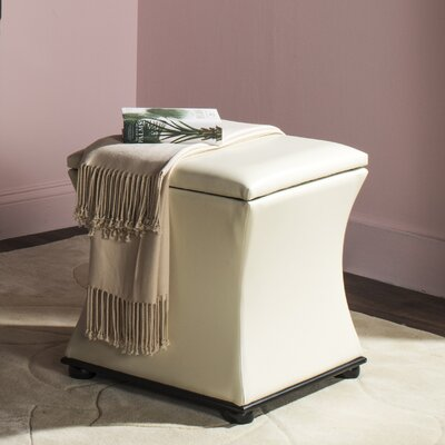 Saddle Rock Storage Leather Ottoman