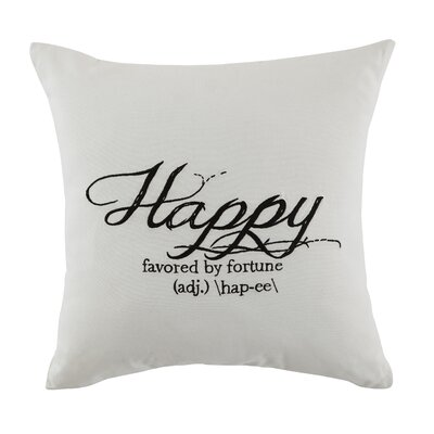 Armory Happy Throw Pillow
