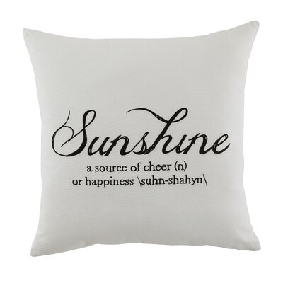 Armstrong Sunshine 100% Cotton Throw Pillow