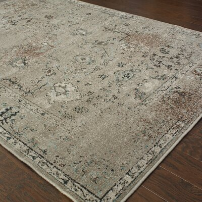 Savoy Gray/Black Area Rug Rug Size: Rectangle 53 x 76