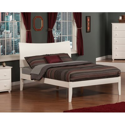 Wrington Platform Bed Color: White, Size: Full