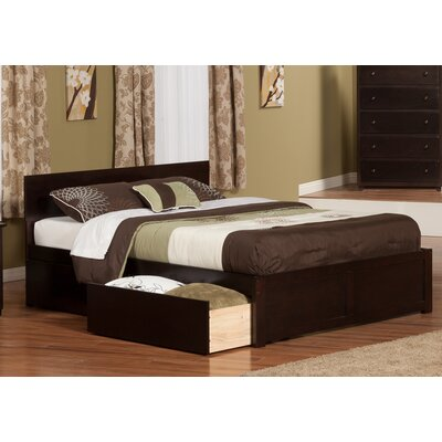 Ahoghill Storage Platform Bed Color: Espresso, Size: Twin