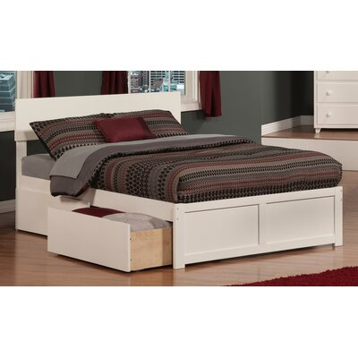 Ahoghill Storage Platform Bed Finish: White, Size: Full