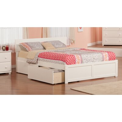 Ahoghill Storage Platform Bed Size: Queen, Finish: White