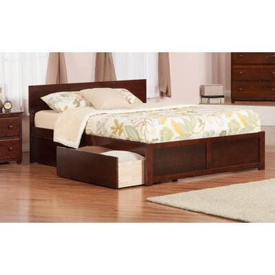 Ahoghill Storage Platform Bed Size: Queen, Finish: Antique Walnut
