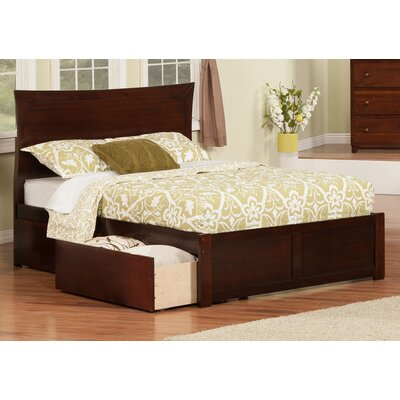 Ahoghill Storage Platform Bed Color: White, Size: Full