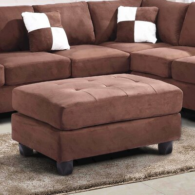 Amberwood Ottoman Upholstery Color: Suede- Chocolate