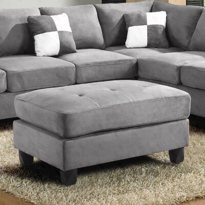 Childress Ottoman Upholstery: Suede Gray