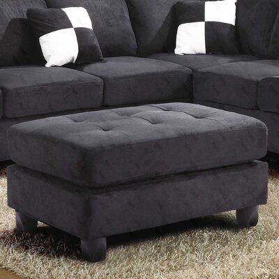 Childress Ottoman Upholstery: Suede Black