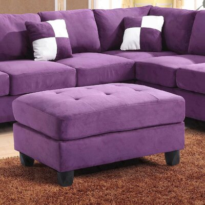 Amberwood Ottoman Upholstery Color: Suede- Purple