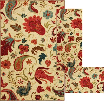 Ashley 3 Piece Tropical Acres Area Rug Set