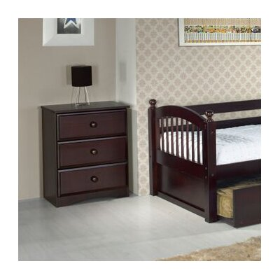 Aster 3 Drawer Narrow Chest Color: Cappuccino