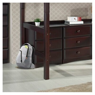 Aster 3 Drawer Dresser Color: Cappuccino