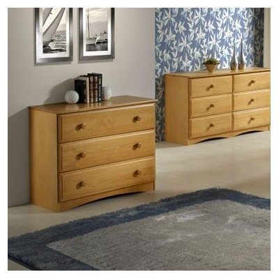 Aster 3 Drawer Dresser Color: Natural