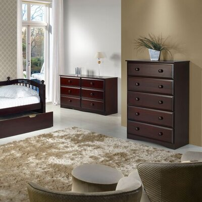 Aster 5 Drawer Chest Finish: Cappuccino