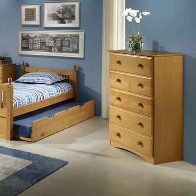 Aster 5 Drawer Chest Color: Natural