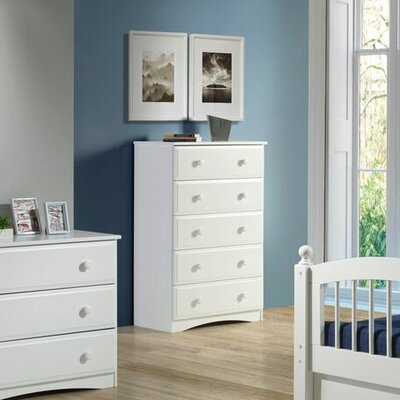 Aster 5 Drawer Chest Color: White