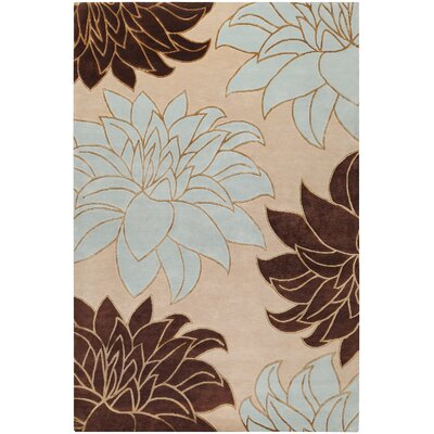 Jamaris Off White/Blue Area Rug Rug Size: Rectangle 9 x 13