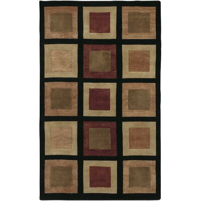 Jamaris Black Checked Area Rug Rug Size: Rectangle 5 x 8