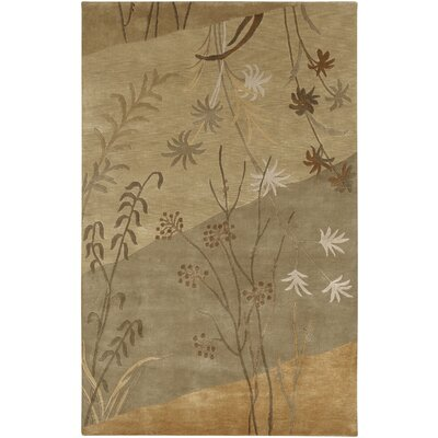 Jamaris Tan/Beige Area Rug Rug Size: Rectangle 5 x 8
