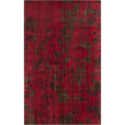 Augustine Venetian Red Area Rug Rug Size: Rectangle 5 x 8
