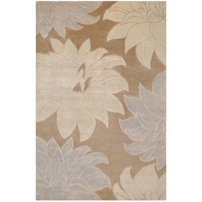 Jamaris Taupe Area Rug Rug Size: Rectangle 5 x 8