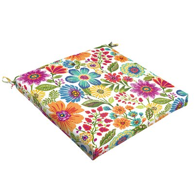 Budron Floral Indoor/Outdoor Dining Chair Cushion Size: 2.5 H x 20 W x 20 D