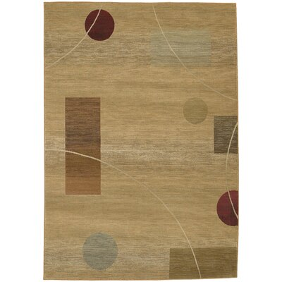 Matilda Beige/Red Area Rug Rug Size: Rectangle 99 x 122