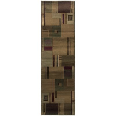 Matilda Green/Red Area Rug Rug Size: 99 x 122