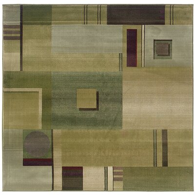 Matilda Green/Red Area Rug Rug Size: Square 8