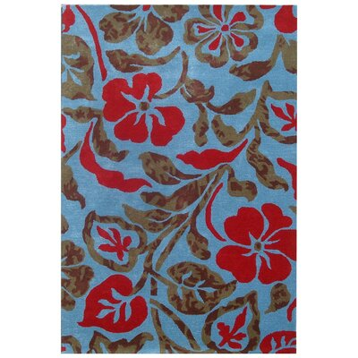 Bartlet Blue Rug Rug Size: Rectangle 5 x 8
